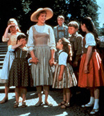 Maria (Julie Andrews)and the Von Trapp children in The Sound of Music
