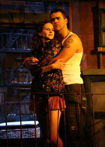 Mandy Gonzalez and Christopher Jackson
