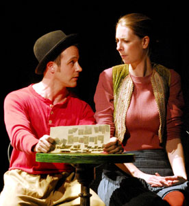 Harold Todd and Dawn Luebbe in The Frugal Repast