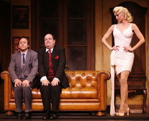 Larry Raben, Brad Oscar, and Leigh Zimmerman 