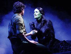 Adam Garcia and Idina Menzel in Wicked
