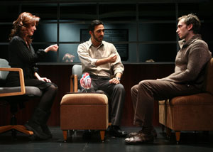 Lynn Collins, Amir Arison and Stephen Kunken 