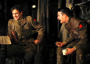 Hugh Dancy and Justin Blanchard in Journey's End