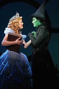 Megan Hilty and Eden Espinosa in Wicked (© Joan Marcus)