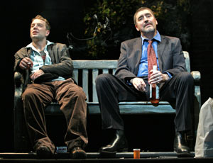Euan Morton and Alfred Molina in Howard Katz