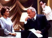 Michael Learned, Spalding Gray, and Mark Blum in Gore Vidal's The Best Man(Photo: Peter Cunningham)