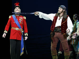 Mark Jacoby and Marc Kudisch in The Pirates of Penzance