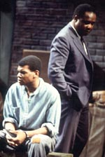 Jamahl Marsh and Isiah Whitlock, Jr.in A Lesson Before Dying(Photo: Susan Johann)