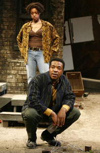 Cherise Boothe and Russell Hornsby