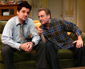 Jeff Marlow and Barry Pearl in Where's Poppa? (© Wesley Horton)