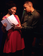 La Chanze and Jerry Dixon inThe Bubbly Black GirlSheds Her Chameleon Skin(© Joan Marcus)