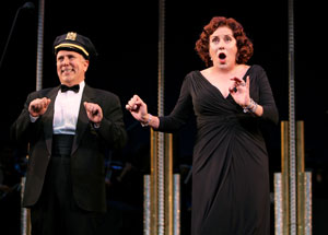 Lee Wilkof and Judy Kaye in Face the Music (© Joan Marcus)