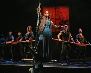 Stephanie J. Block and company in The Pirate Queen