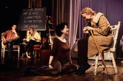 (l to r) Niall Ashdown, guest Florie Seery, Angela Clerkin and Stella Duffy in Lifegame