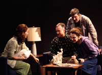 Betsy Aidem, Reed Birney, James Colby,and Marian Seldes in The Butterfly Collection(Photo: Joan Marcus)