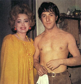 Rue McClanahan with Dustin Hoffman in 1969