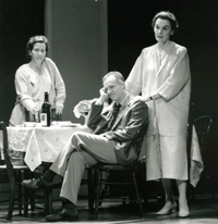 Reed Birney with Betsy Aidem (l) and Marian Seldes in The Butterfly Collection(Photo: Joan Marcus)