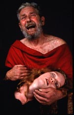 Ralph Waite and Natily Blair in King Lear