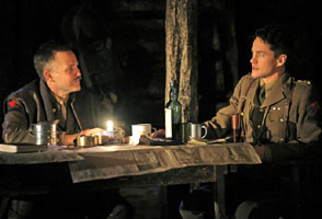 Boyd Gaines and Hugh Dancy in Journey's End