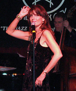 Lucie Arnaz performing at Birdland(© Michael Portantiere)