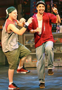 Lin-Manuel Miranda (right)and Robin de Jesús in In the Heights(© Joan Marcus)