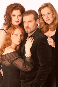 Jacquelyn Piro Donovan, Christiane Noll, Marc Kudisch, and Emily Skinner in The Witches of Eastwick (© Joan Marcus)