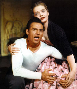 Florence Henderson and William Tabbert in Fanny(Photo from Broadway Musicals:The 100 Greatest Shows of All Time)