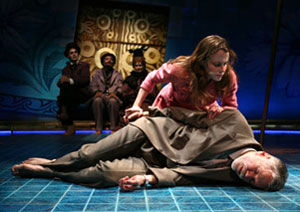Maria Dizzia and Charles Shaw Robinson in Eurydice (© Joan Marcus)
