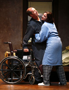 Christopher Hurt and Pamela Sabaugh in The Rules of Charity (© Carol Rosegg)