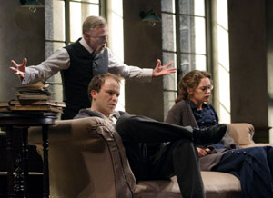 Phil Davis, Rory Kinnear, and Ruth Wilson in Philistines