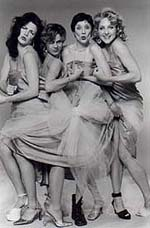 The High-Heeled Women (l to r): Abigail Gampel, Susan Murphy,Mary Purdy, and Deborah La Coy