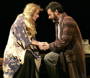 Samantha Mathis and Mark Nelson in Uncle Vanya