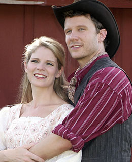 Kelli O'Hara and Will Chase in Oklahoma!(© Mutz Photography)