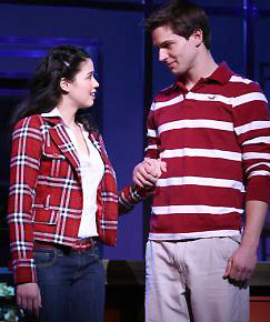 Arielle Jacobs and John Jeffrey Martinin Disney's High School Musical(&copy; Joan Marcus)