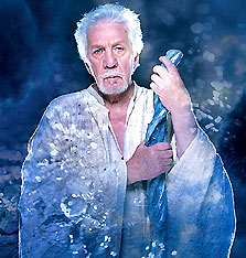 William Hutt as Prospero in The Tempest(© David Hou)