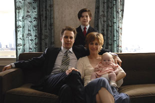 Sam Rockwell, Jacob Kogan, and Vera Farmiga in Joshua
