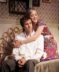 James Waterston and Geneva Carr in Relatively Speaking (© T. Charles Erickson)
