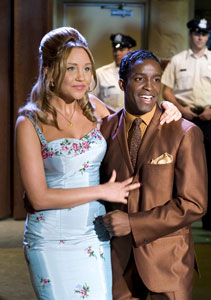 Amanda Bynes and Elijah Kelley in Hairspray