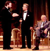 John Ritter, Henry Winkler, and Len Cariouin Neil Simon's The Dinner Party