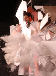 A scene from Fuerzabruta