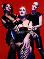 Daphne Rubin-Vega,Tom Hewitt, and Joan Jettin The Rocky Horror Show