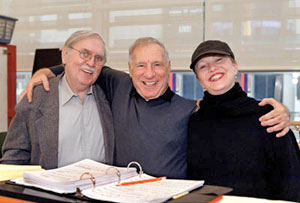 Thomas Meehan, Mel Brooks, and Susan Stroman