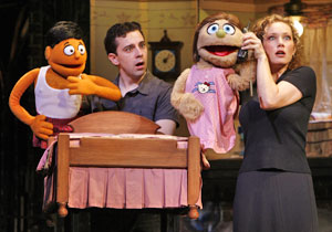 Robert McClure and Kelli Sawyer in Avenue Q