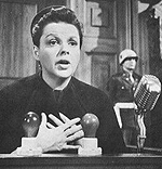 Judy Garland in the film versionof Judgment at Nuremberg