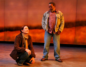Meg Gibson and Ray Anthony Thomas in Human Error