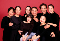 Chay Yew (center) with cast members