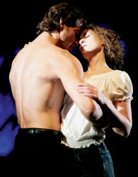Josef Brown and Georgina Rich in the London production of Dirty Dancing (© David Scheinmann)