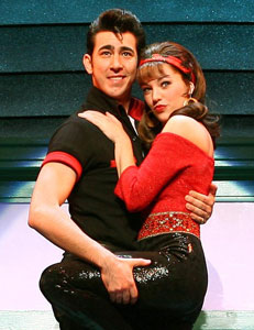 Max Crumm and Laura Osnes in Grease