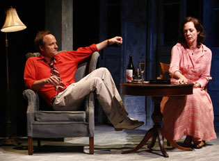 John Benjamin Hickey and Allison Janney in The Autumn Garden
