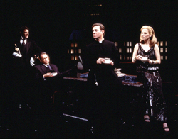 John Michael Higgns, Stephen Rowe, Richard Thomas, and Laila Robins in Tiny Alice(Photo: T. Charles Erickson)
